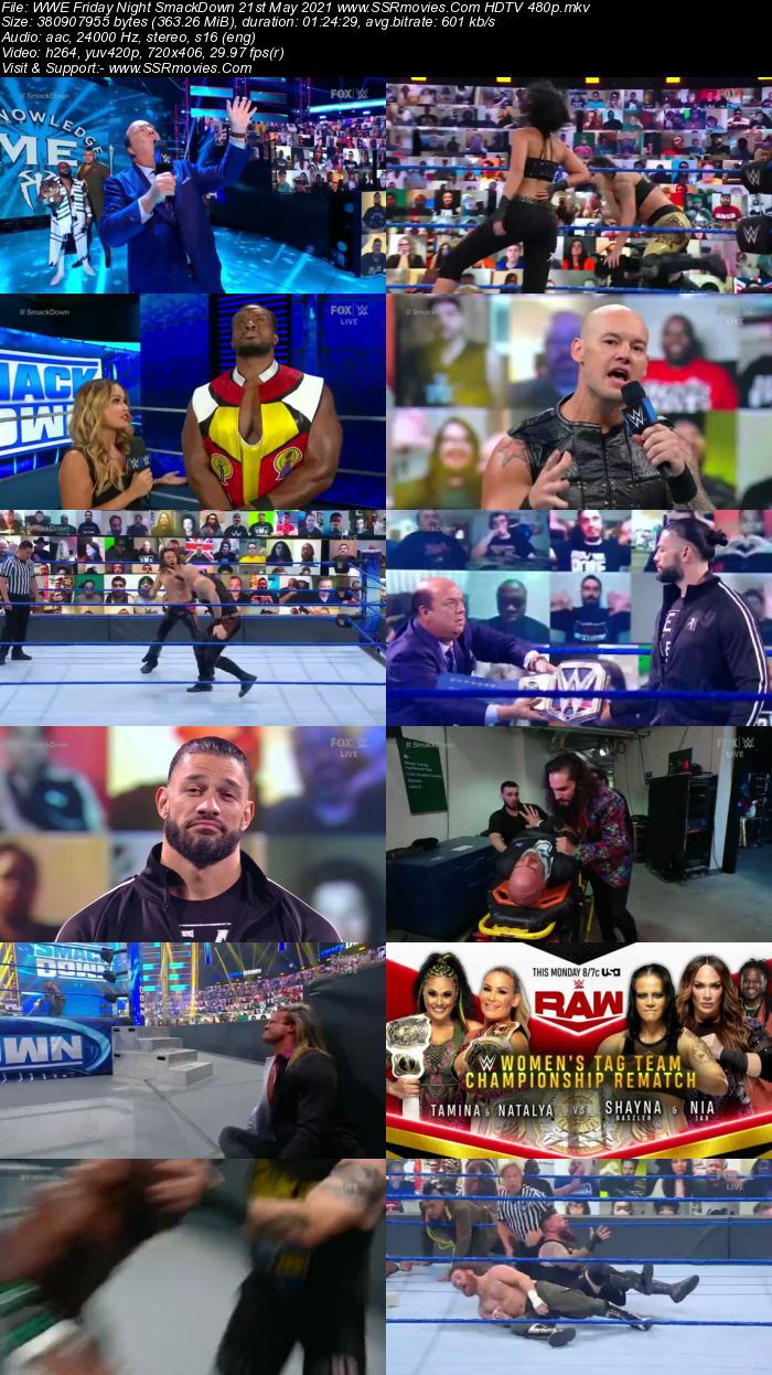 WWE Friday Night SmackDown 21st May 2021 HDTV 480p 720p Download