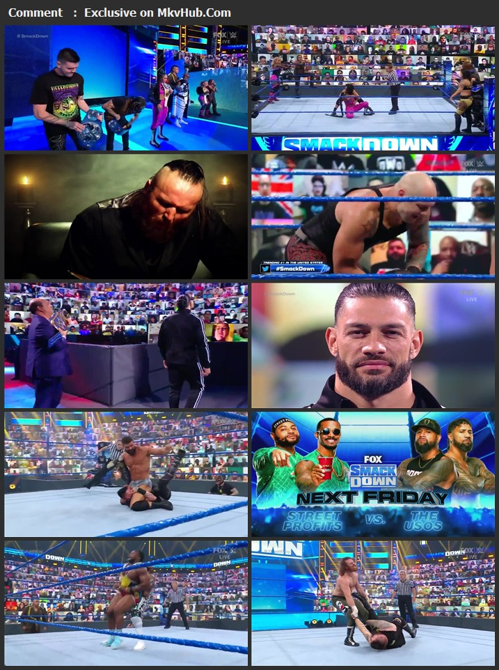 WWE Friday Night SmackDown 21 May 2021 720p WEBRip x264 750MB Download