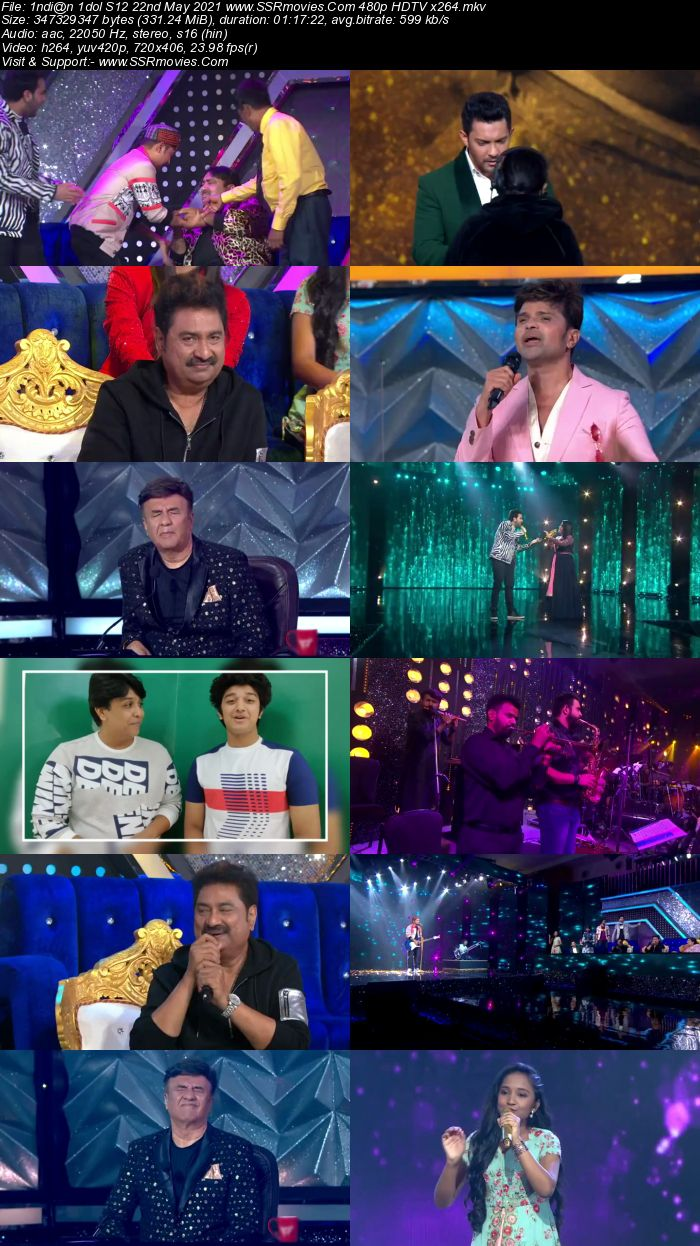 Indian Idol S12 22nd May 2021 480p 720p HDTV x264 550MB Download