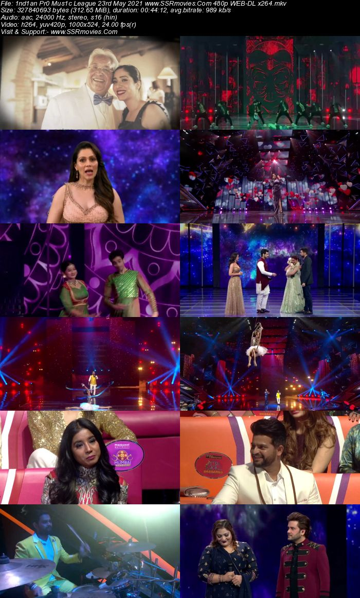 Indian Pro Music League 23 May 2021 480p WEB-DL 300MB Download