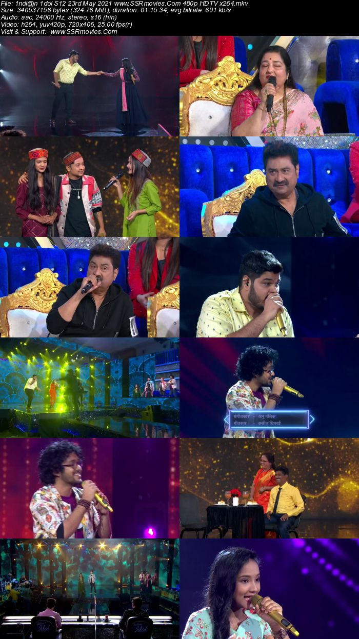Indian Idol S12 23rd May 2021 480p 720p HDTV x264 300MB Download