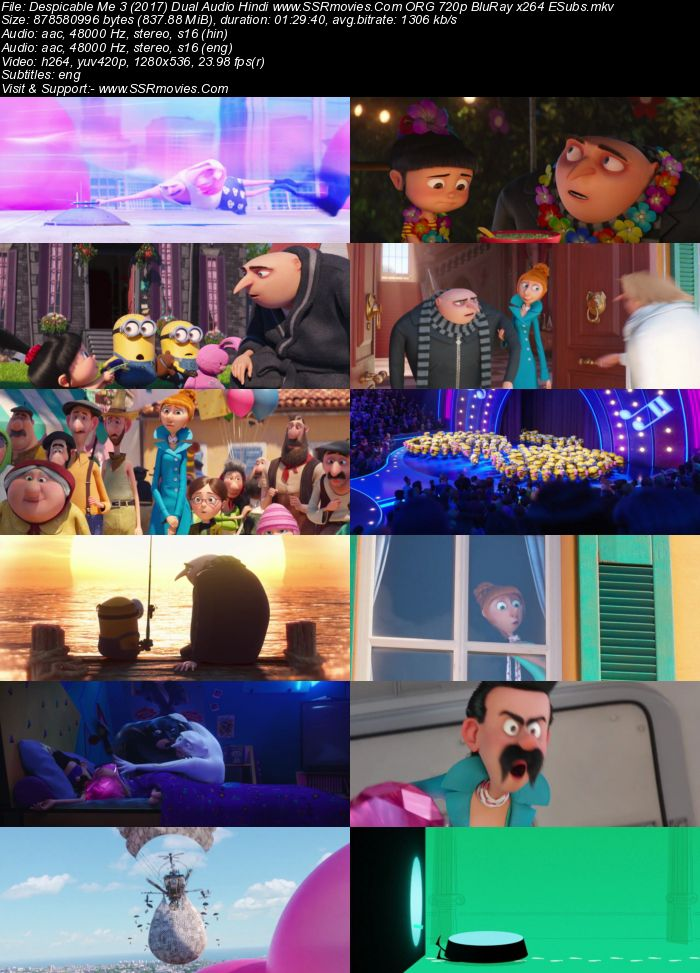 Despicable Me 3 (2017) Dual Audio Hindi 720p BluRay x264 800MB Full Movie Download