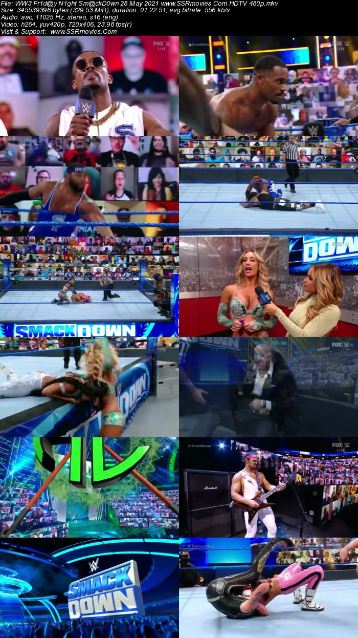 WWE Friday Night SmackDown 28th May 2021 HDTV 480p 720p Download