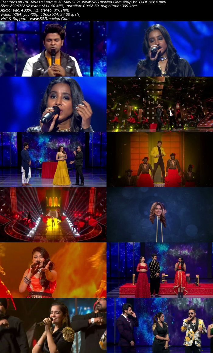 Indian Pro Music League 30 May 2021 480p WEB-DL 300MB Download