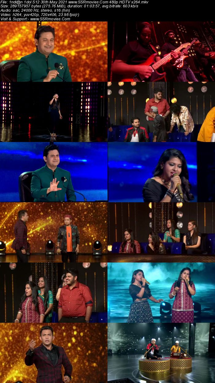 Indian Idol S12 30th May 2021 480p 720p HDTV x264 300MB Download
