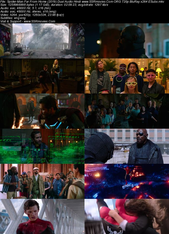 Spider-Man: Far from Home (2019) Dual Audio Hindi 720p BluRay x264 1.2GB Full Movie Download