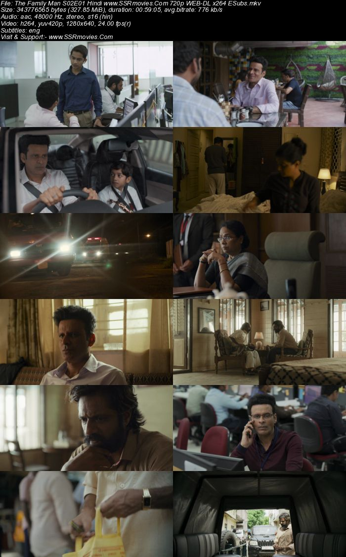 The Family Man (2021) S02 Complete Hindi 720p WEB-DL 2.2GB ESubs Download