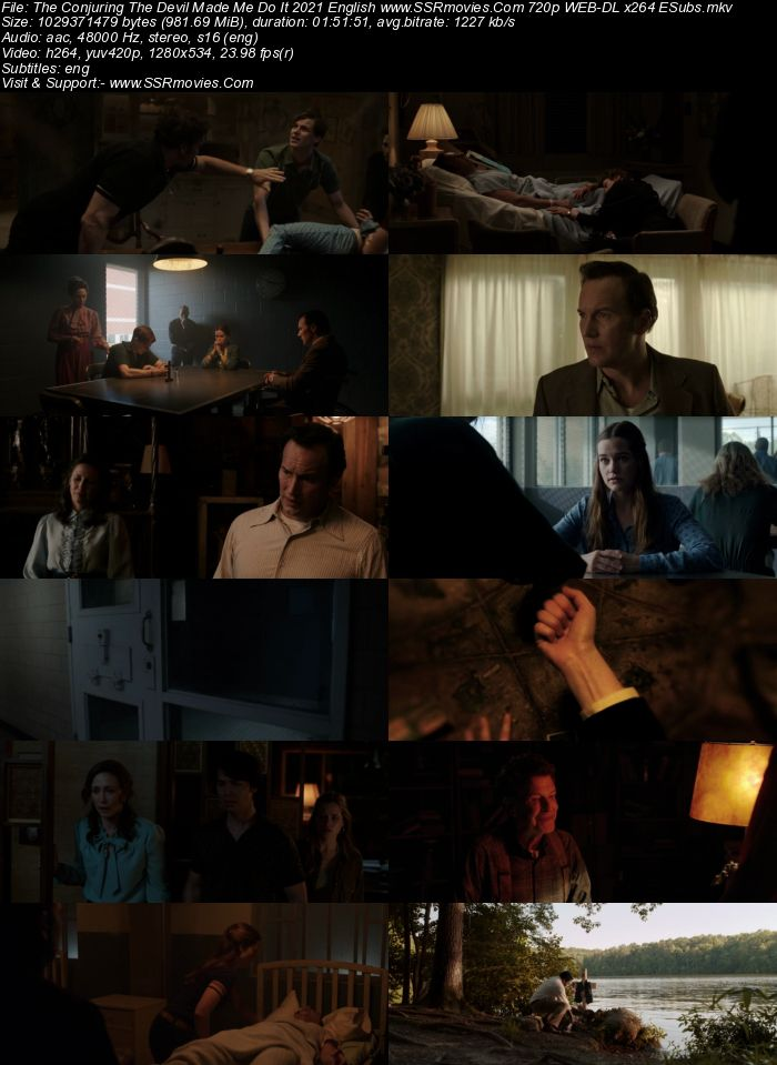 The Conjuring: The Devil Made Me Do It (2021) English 720p WEB-DL x264 950MB Full Movie Download