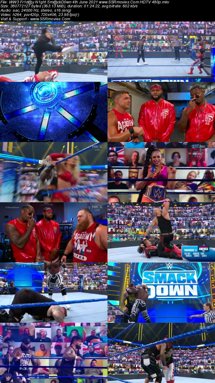 WWE Friday Night SmackDown 4th June 2021 HDTV 480p 720p Download