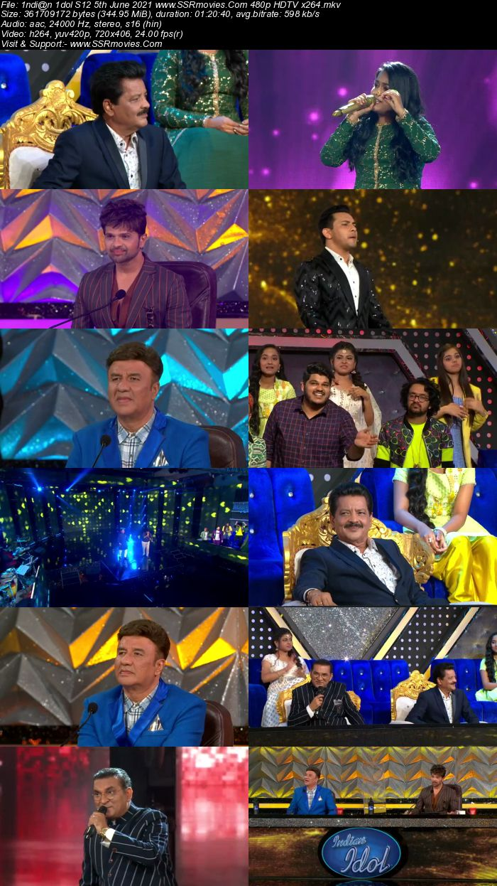 Indian Idol S12 5th June 2021 480p 720p HDTV x264 300MB Download