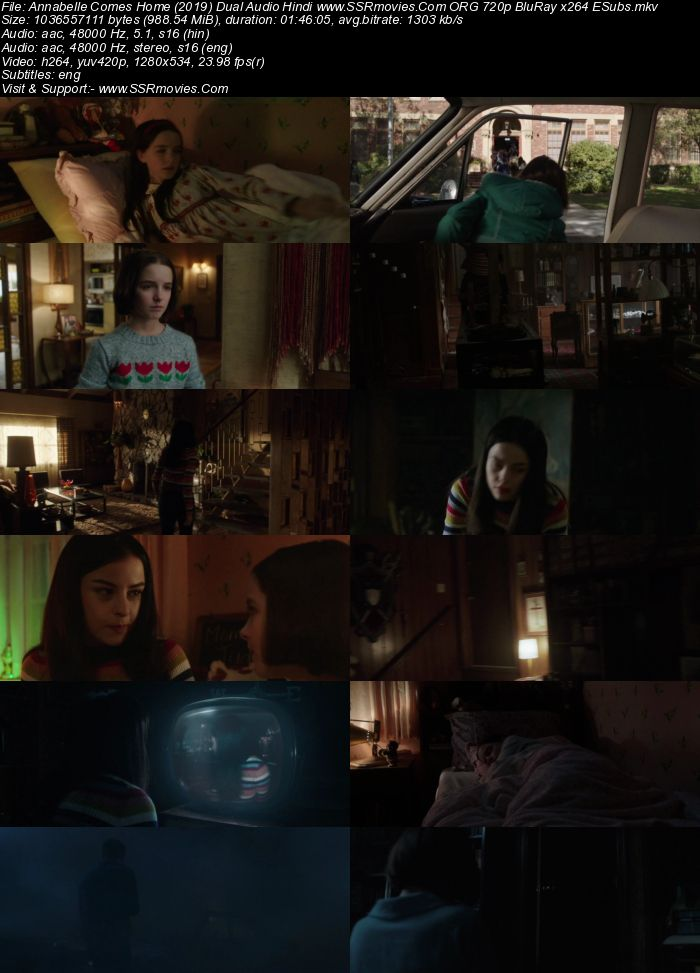 Annabelle Comes Home (2019) Dual Audio Hindi 720p BluRay x264 950MB Full Movie Download
