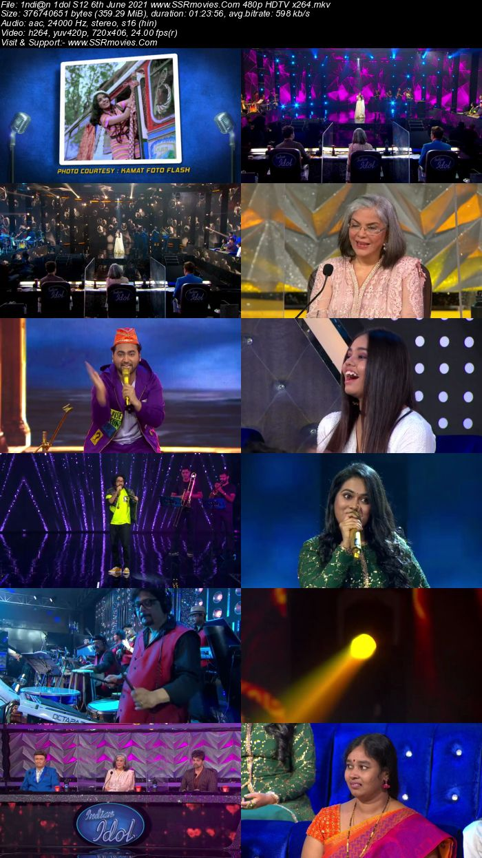 Indian Idol S12 6th June 2021 480p 720p HDTV x264 300MB Download