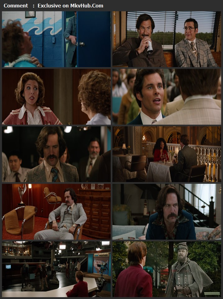 Anchorman 2: The Legend Continues 2013 English 720p BluRay 1GB Download