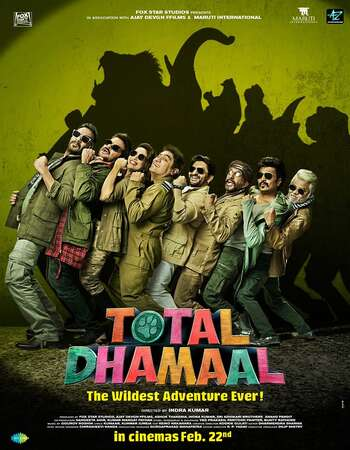 Total Dhamaal (2019) Hindi 480p WEB-DL x264 400MB Full Movie Download