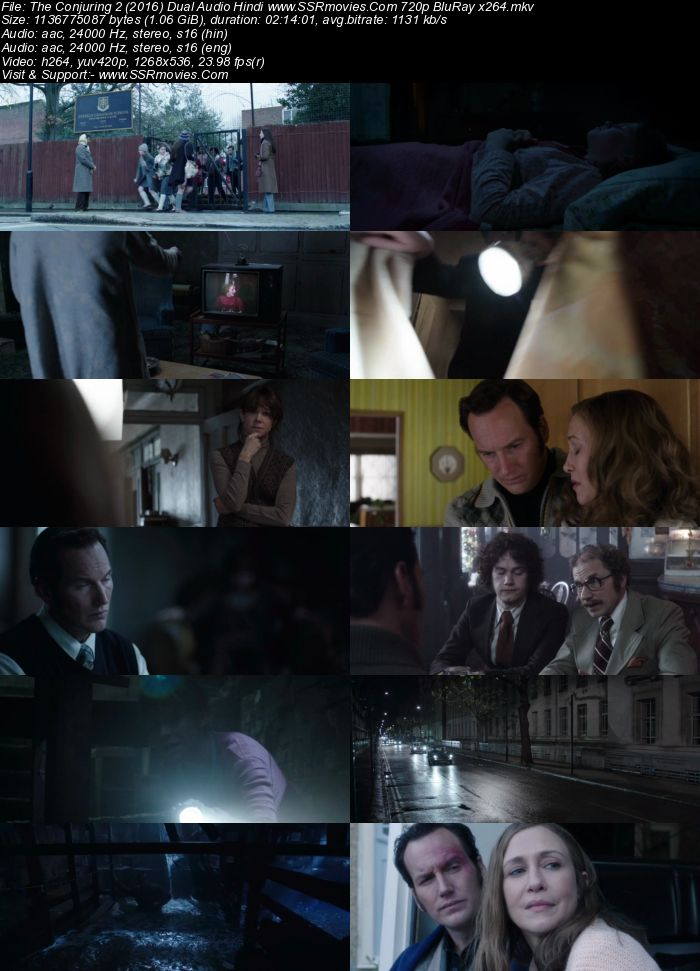 The Conjuring 2 (2016) Dual Audio Hindi ORG 480p BluRay 450MB ESubs Full Movie Download