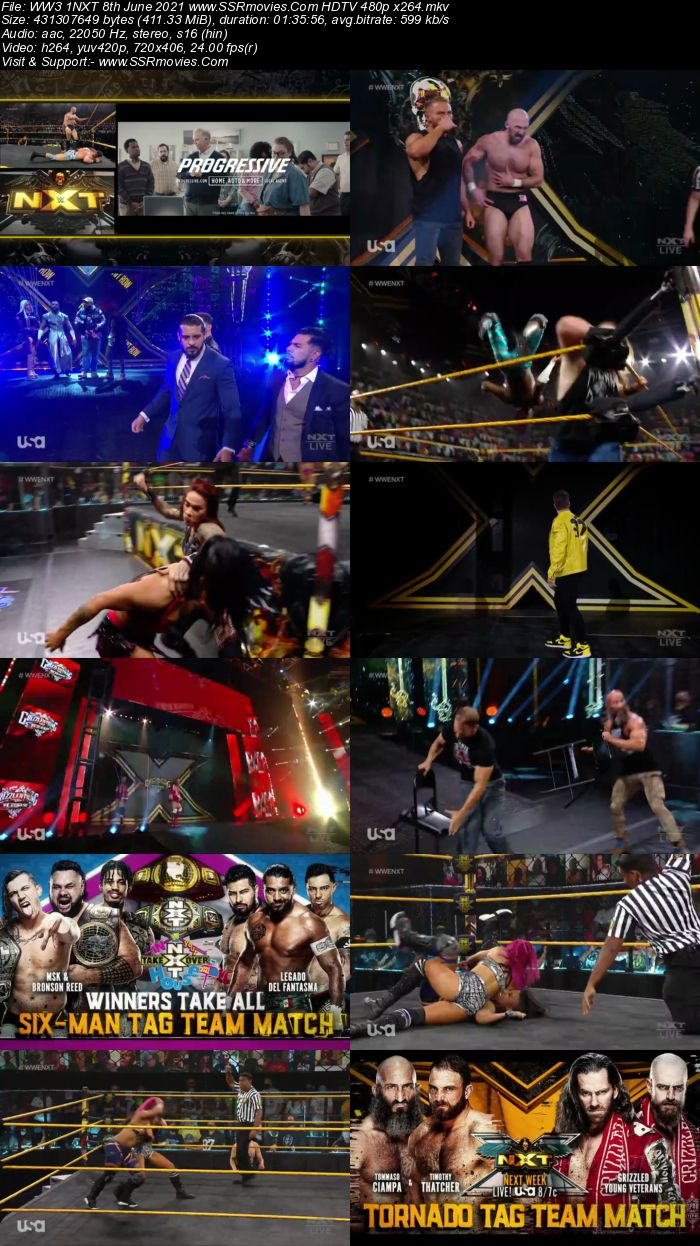 WWE NXT 8th June 2021 HDTV 480p 720p Full Show Download