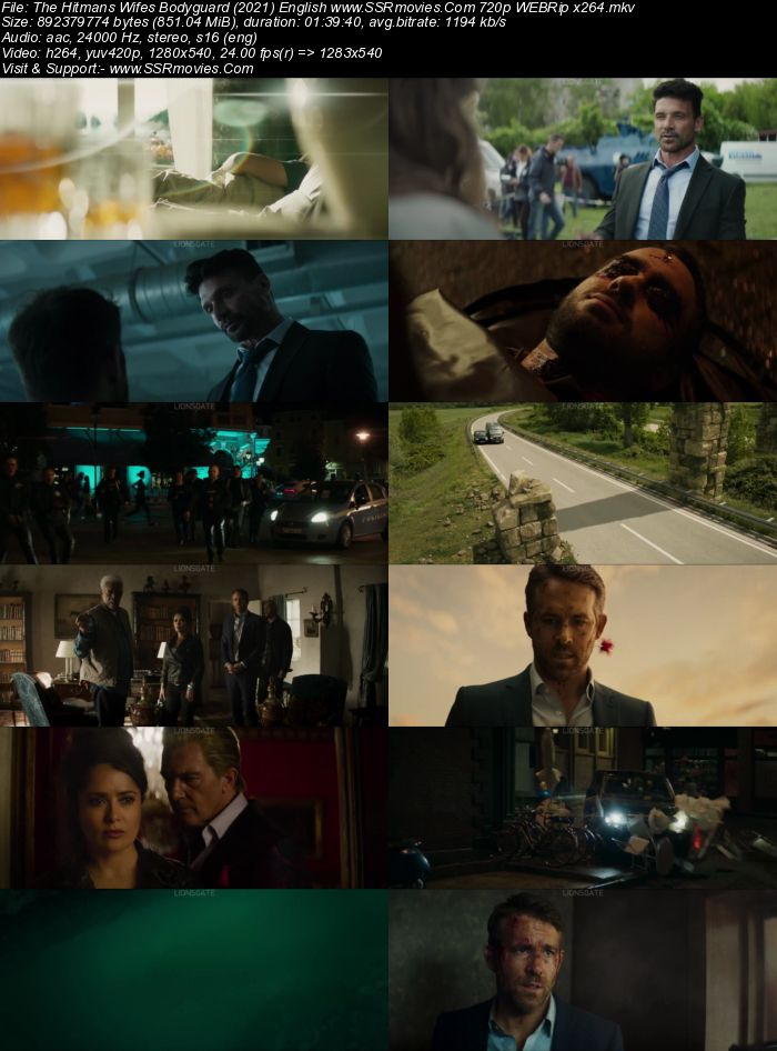The Hitman's Wife's Bodyguard (2021) English 480p WEB-DL 300MB Full Movie Download