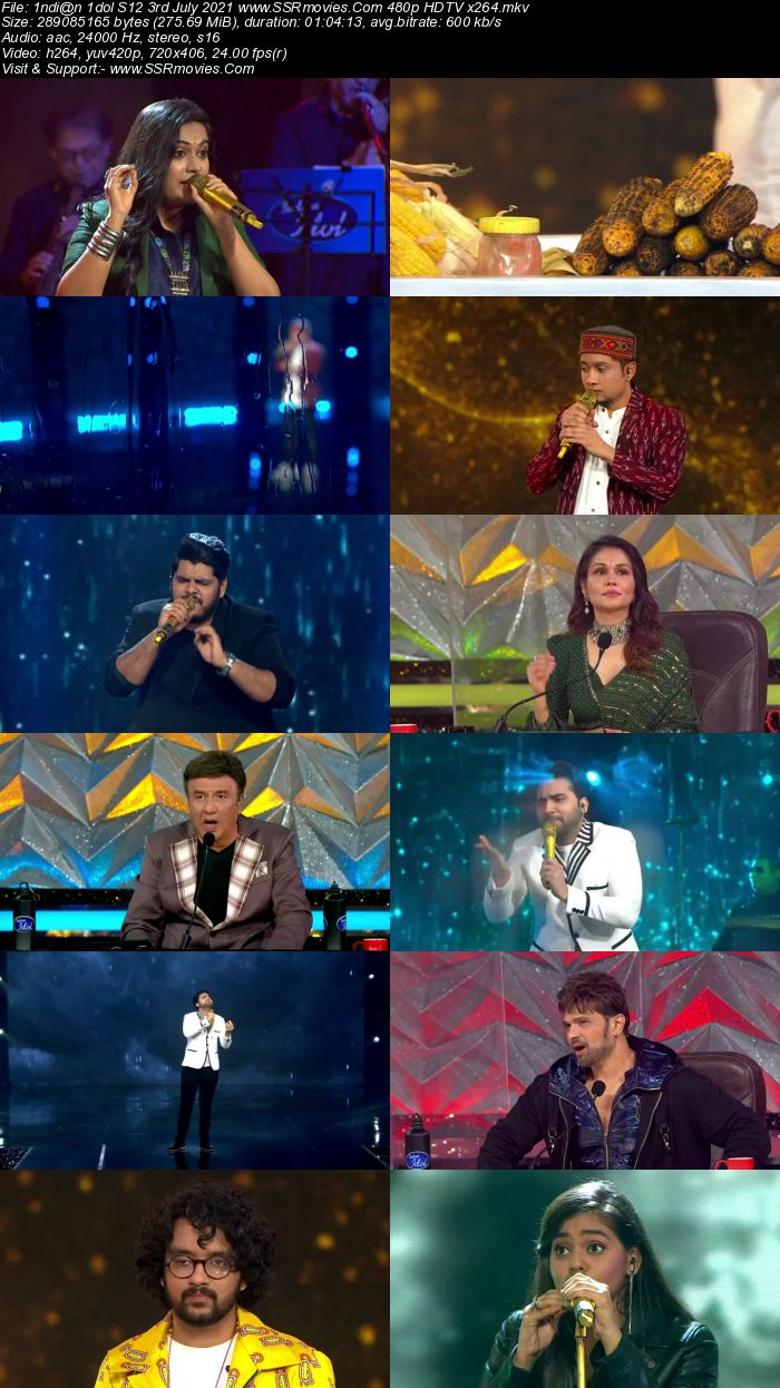 Indian Idol S12 3rd July 2021 480p 720p HDTV x264 300MB Download