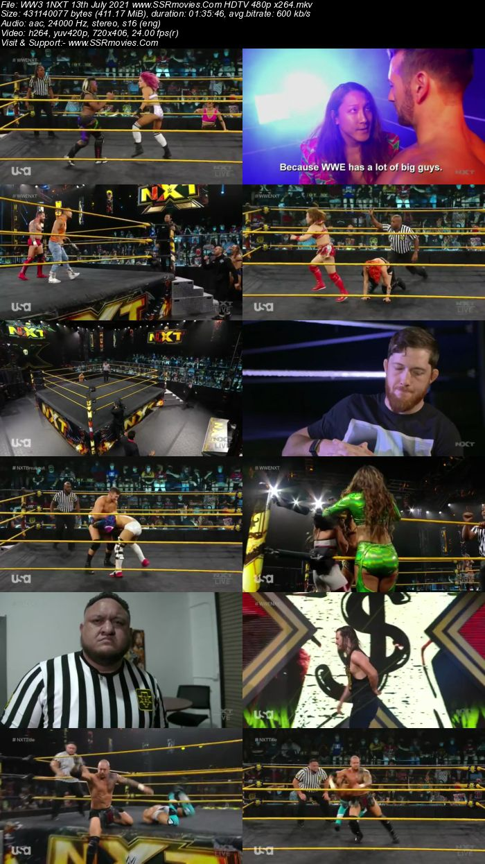 WWE NXT 13th July 2021 HDTV 480p 720p Full Show Download