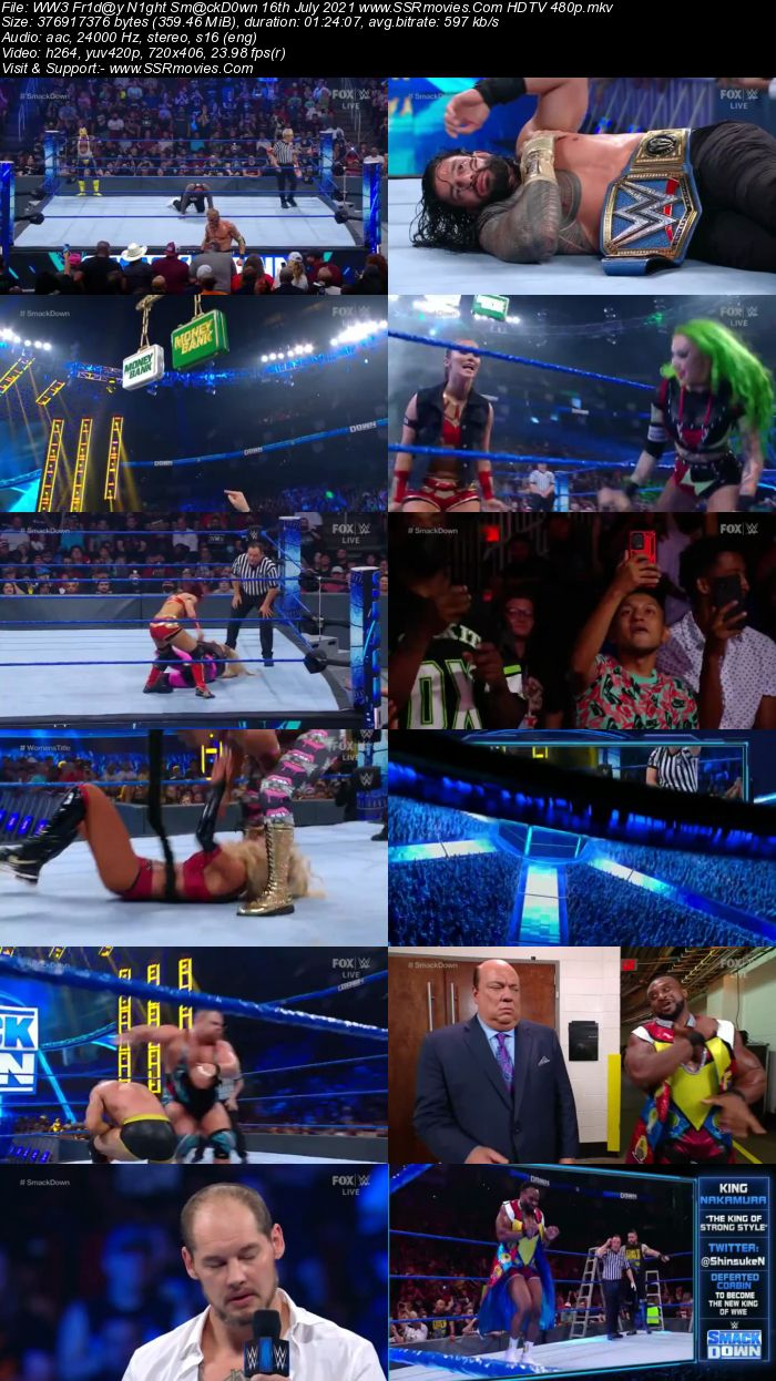 WWE Friday Night SmackDown 16th July 2021 HDTV 480p 720p Download