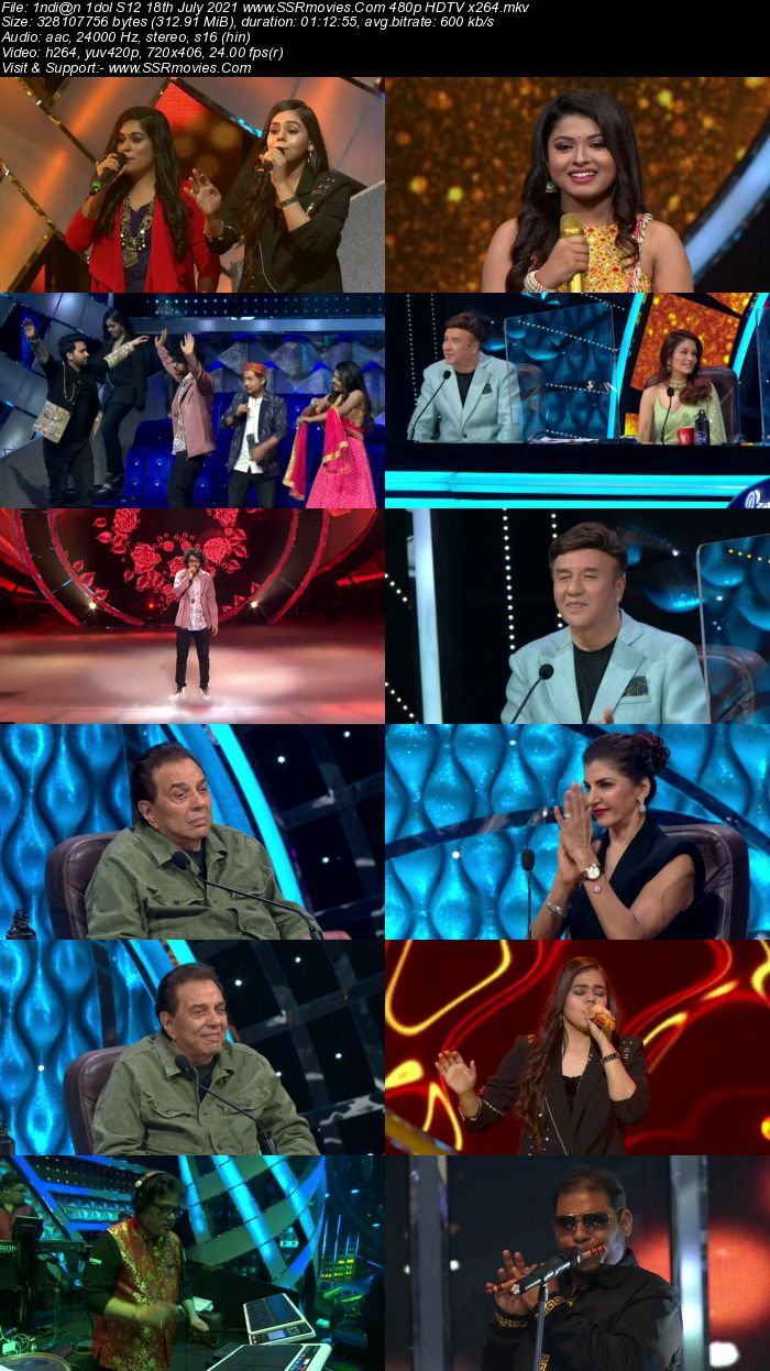 Indian Idol S12 18th July 2021 480p 720p HDTV x264 300MB Download