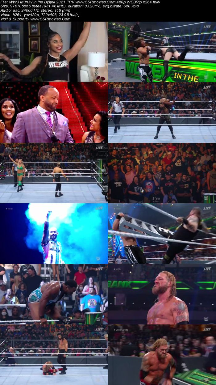WWE Money in the Bank 2021 PPV 480p 720p WEBRip x264 Download
