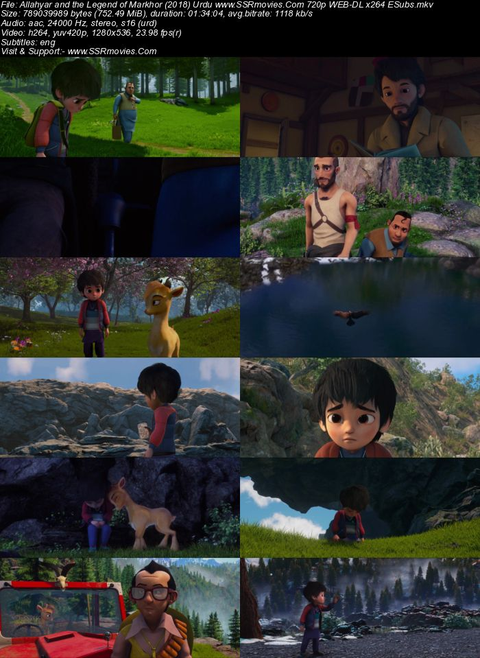 Allahyar and the Legend of Markhor (2018) Urdu 480p WEB-DL 300MB ESubs Full Movie Download