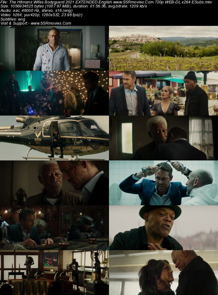 The Hitman's Wife's Bodyguard (2021) EXTENDED English 720p WEB-DL ESubs Full Movie Download