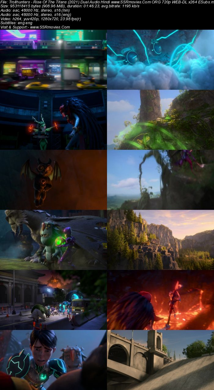 Trollhunters: Rise of the Titans (2021) Dual Audio Hindi 720p WEB-DL x264 900MB Full Movie Download