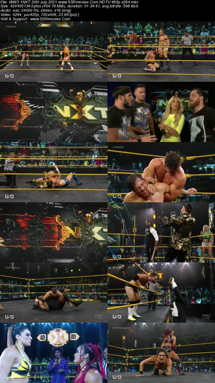WWE NXT 20th July 2021 HDTV 480p 720p Full Show Download