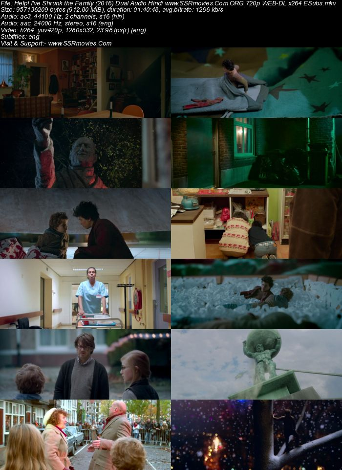 help!  I've Shrunk the Family (2014) Dual Audio Hindi ORG 720p WEB-DL 900MB ESubs Full Movie Download