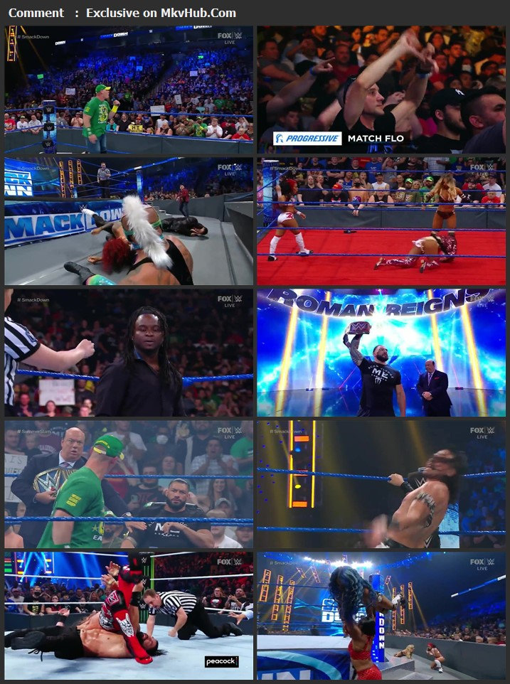 WWE Friday Night SmackDown 30th July 2021 720p WEBRip x264 750MB Download