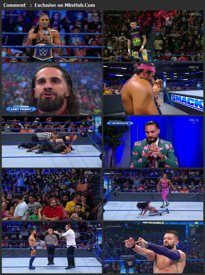 WWE Friday Night SmackDown 6th August 2021 720p WEBRip x264 750MB Download Download