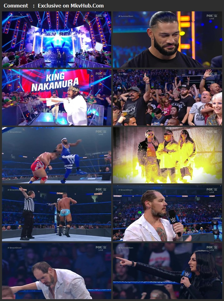 WWE Friday Night SmackDown 13th August 2021 720p WEBRip x264 750MB Download Download