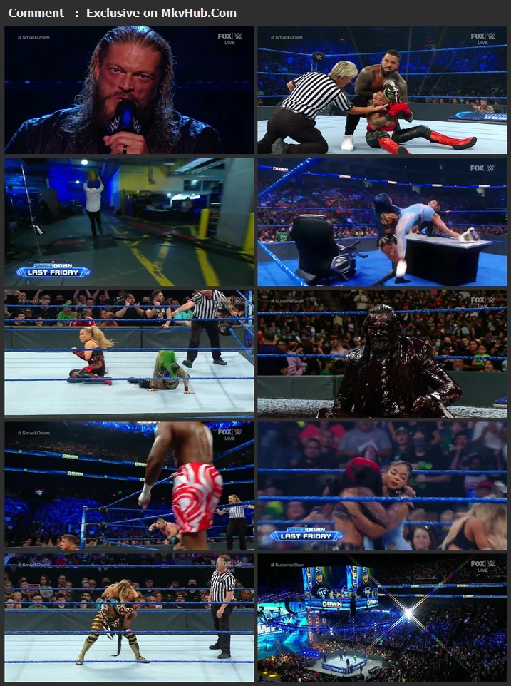 WWE Friday Night SmackDown 20th August 2021 720p WEBRip x264 750MB Download Download