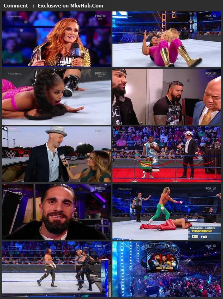 WWE Friday Night SmackDown 27th August 2021 720p WEBRip x264 750MB Download Download