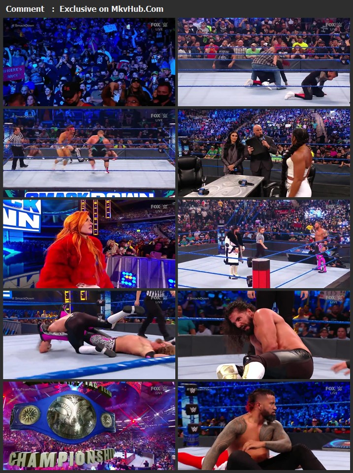 WWE Friday Night SmackDown 10th September 2021 720p WEBRip x264 700MB Download