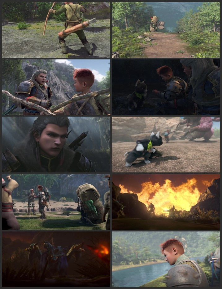 Monster Hunter: Legends of the Guild (2021) English 720p 480p WEB-DL x264 450MB Full Movie Download