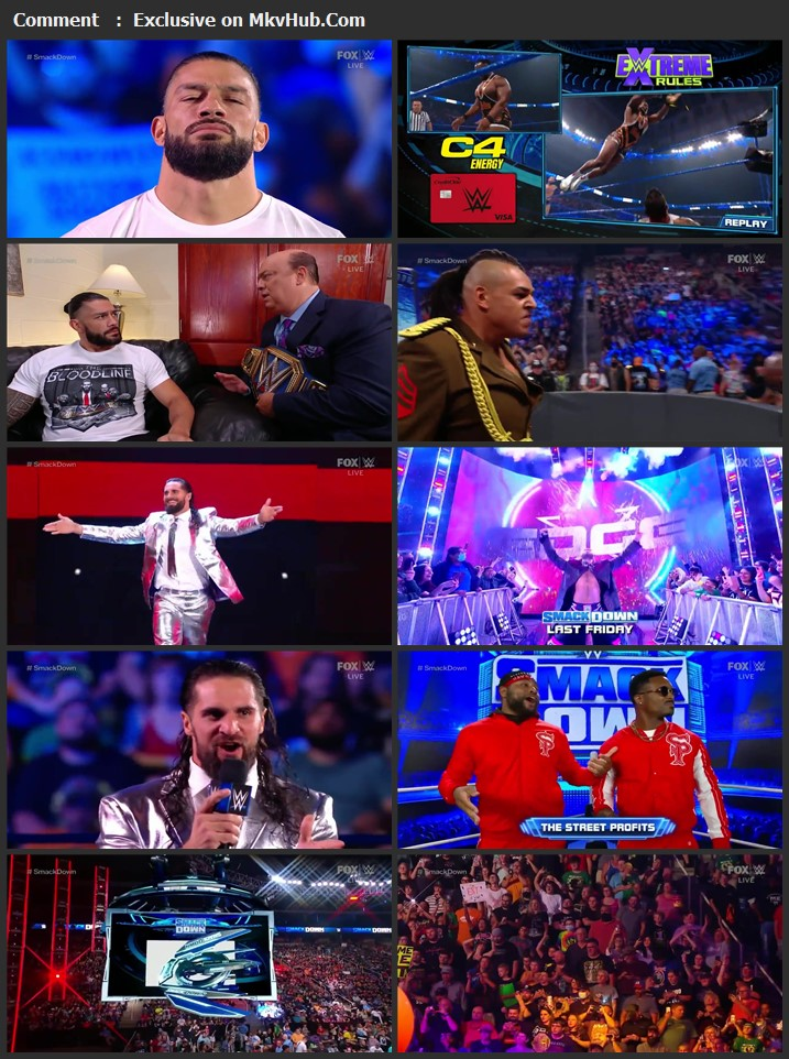WWE Friday Night SmackDown 17th September 2021 720p WEBRip x264 750MB Download