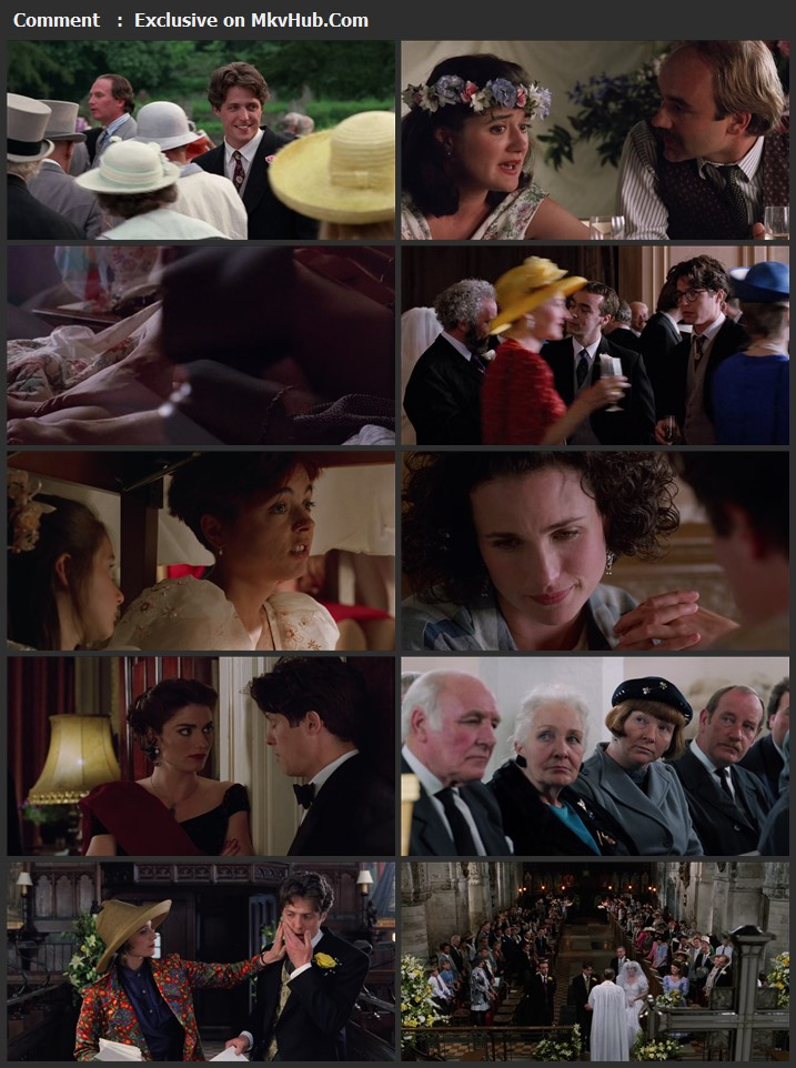 Four Weddings and a Funeral 1994 English 720p BluRay 1GB Download