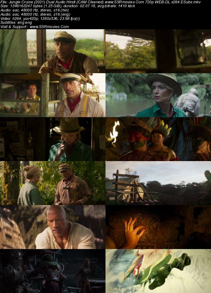 Jungle Cruise (2021) Dual Audio Hindi (Cleaned) 1080p WEB-DL 2.3GB ESubs Full Movie Download
