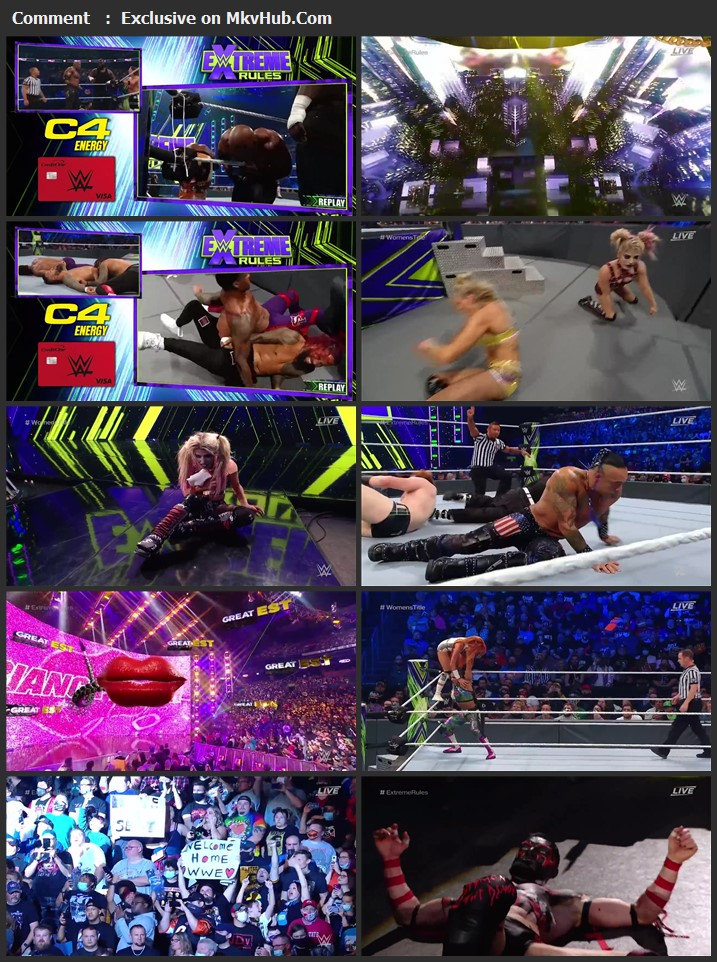 WWE Extreme Rules 2021 720p PPV WEBRip x264 1.6GB Download