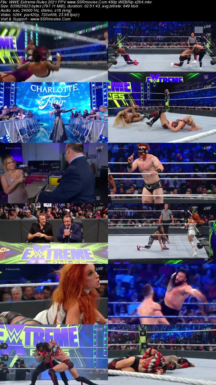 WWE Extreme Rules 2021 PPV 720p 480p WEBRip x264 Download
