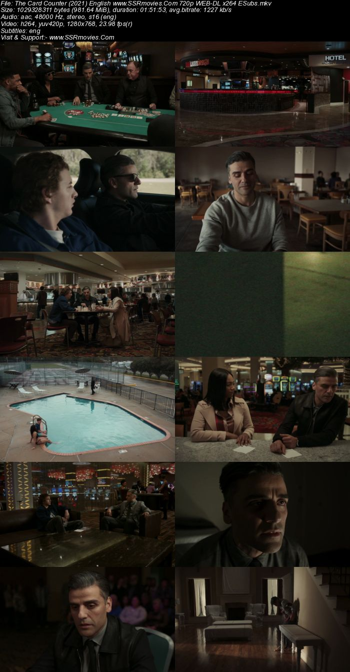 The Card Counter (2021) English 720p WEB-DL x264 950MB Full Movie Download