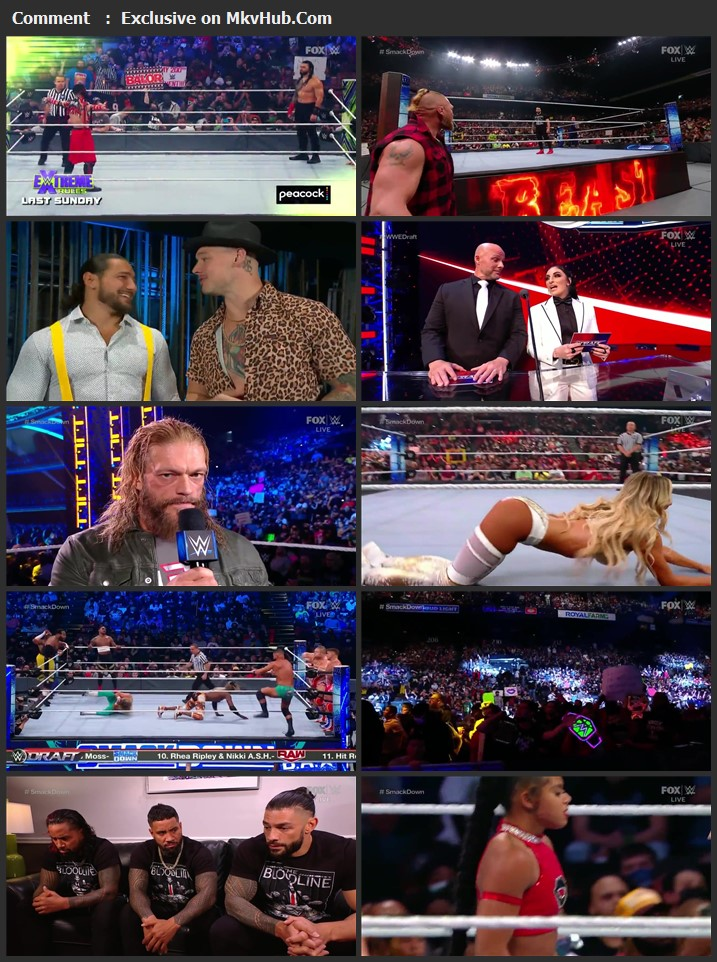 WWE Friday Night SmackDown 1st October 2021 720p WEBRip x264 750MB Download