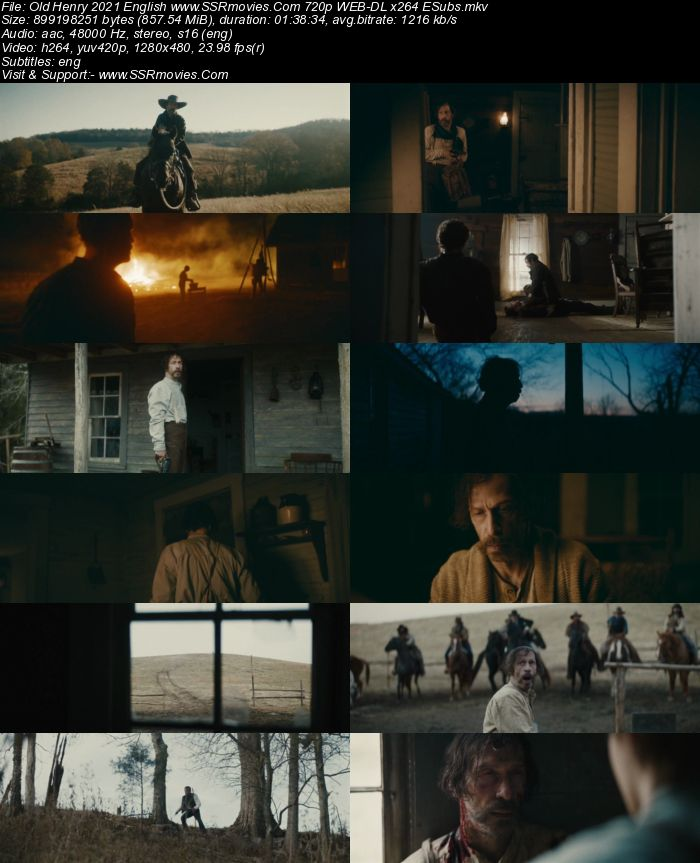 Old Henry (2021) English 720p WEB-DL x264 850MB Full Movie Download