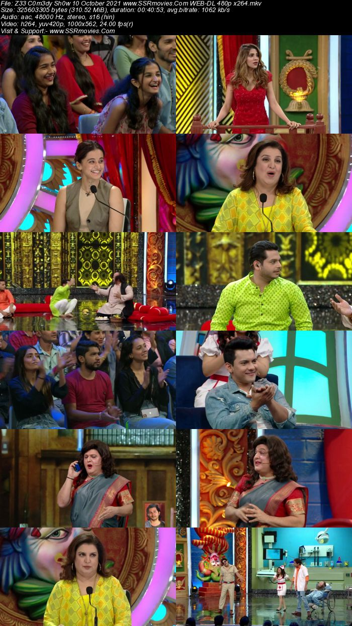 Zee Comedy Show 10th October 2021 480p WEB-DL x264 300MB Download