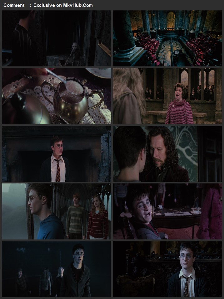 Harry Potter and the Order of the Phoenix 2007 English 720p BluRay 1GB Download