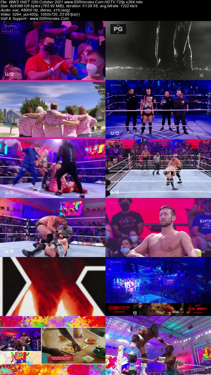 WWE NXT 2.0 12th October 2021 480p 720p HDTV x264 Download