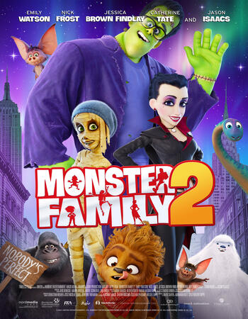 Monster Family 2 2021 English 720p WEB-DL 900MB Download